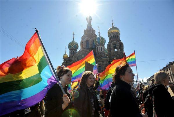 Protesta LGBT+ en Rusia