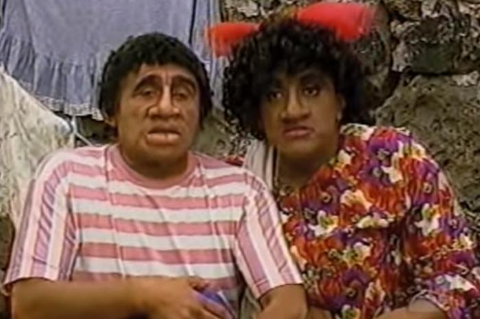 Héctor Suárez en su personaje de El Negro Tomás