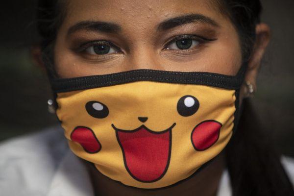 cubrebocas Pikachu