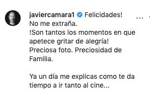 Comentario en Instagram