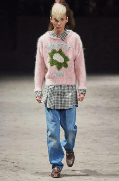 Uno de los vestuarios presentados en la última colección de Gucci