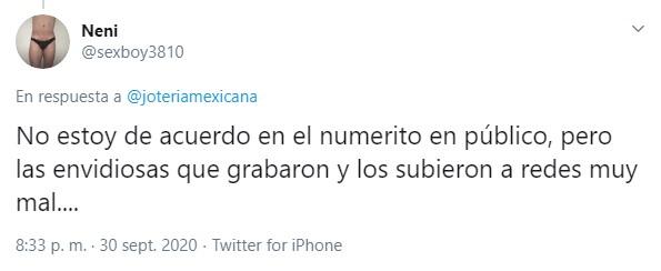 Captura de tuit