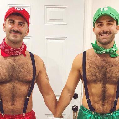 disfraces gay pareja mario luigi