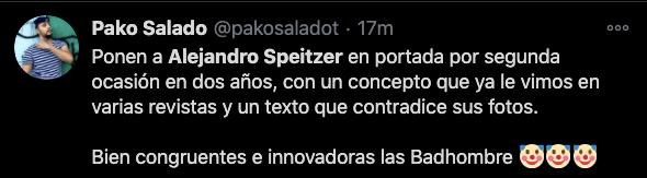 comentario twitter alejandro speitzer incongruente payaso