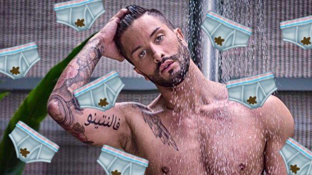 actor de porno gay risa sus calzones sucios en redes