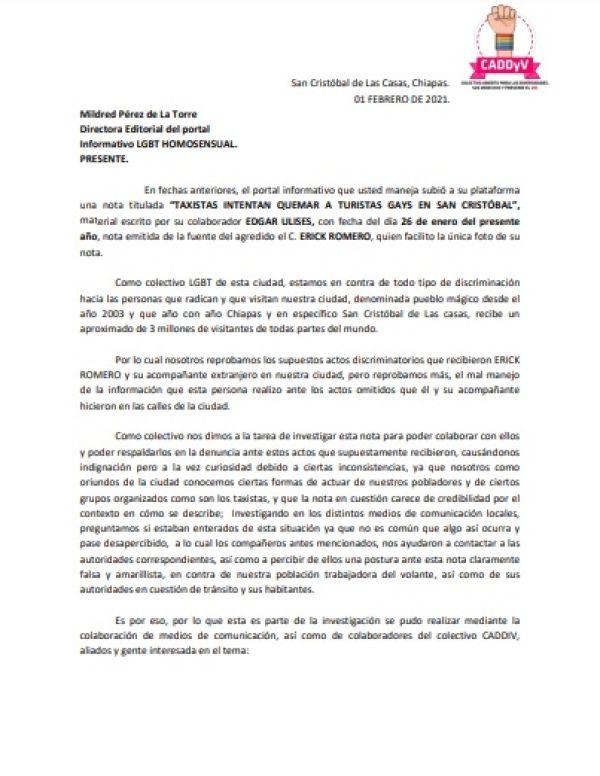 Caso de turistas gays en San Cristóbal de las Casas