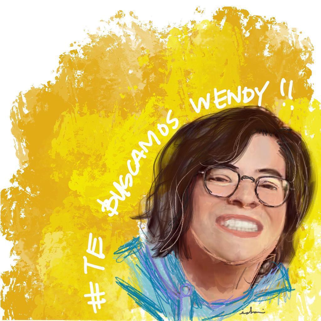 ilustración sobre la búsqueda de Wendy Sánchez