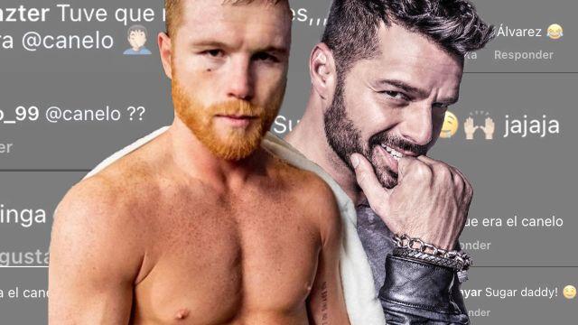 Comparan a Ricky Martin con Canelo Alvarez por nuevo look