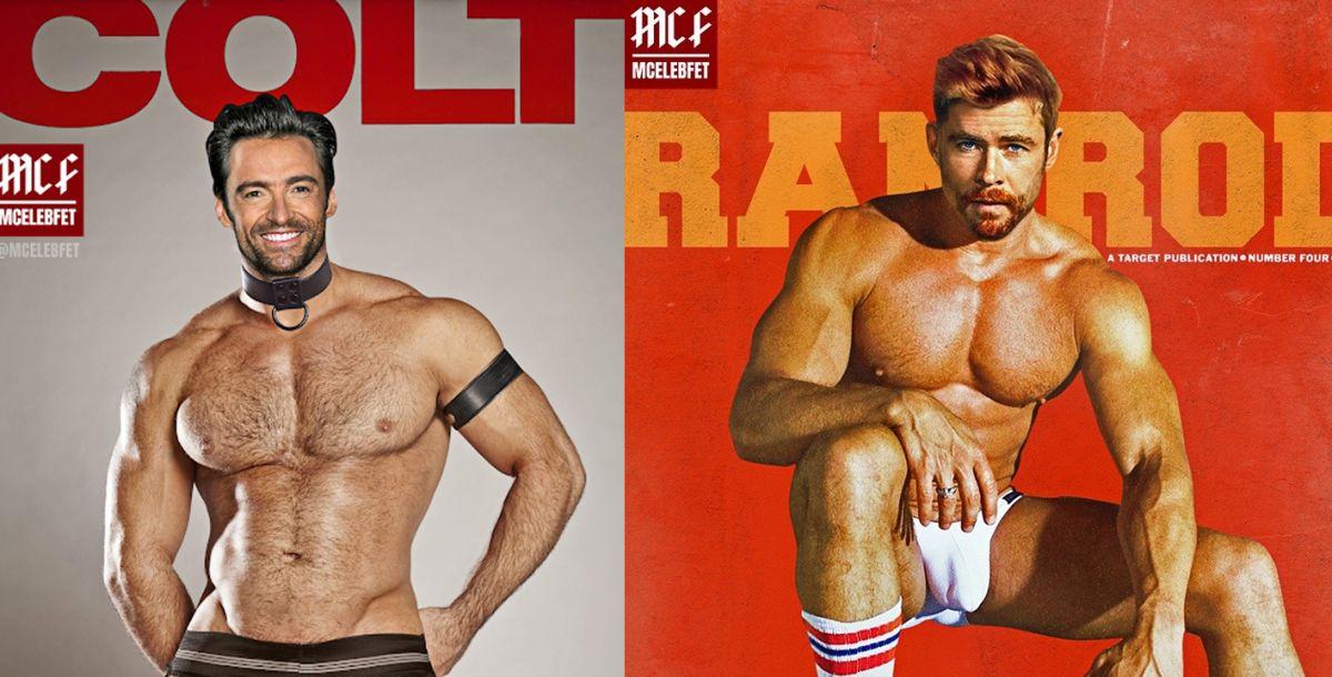 famosos como portadas de revistas de porno gay de los 80