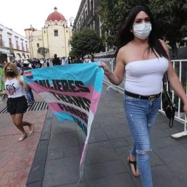 Mujeres trans en plantón de Edomex