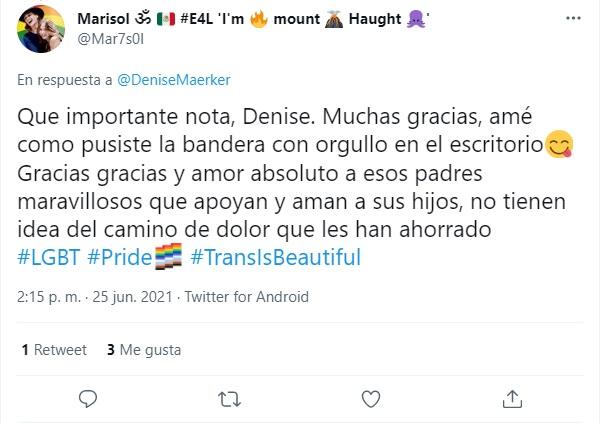 Denise MaerKer aliada LGBT+