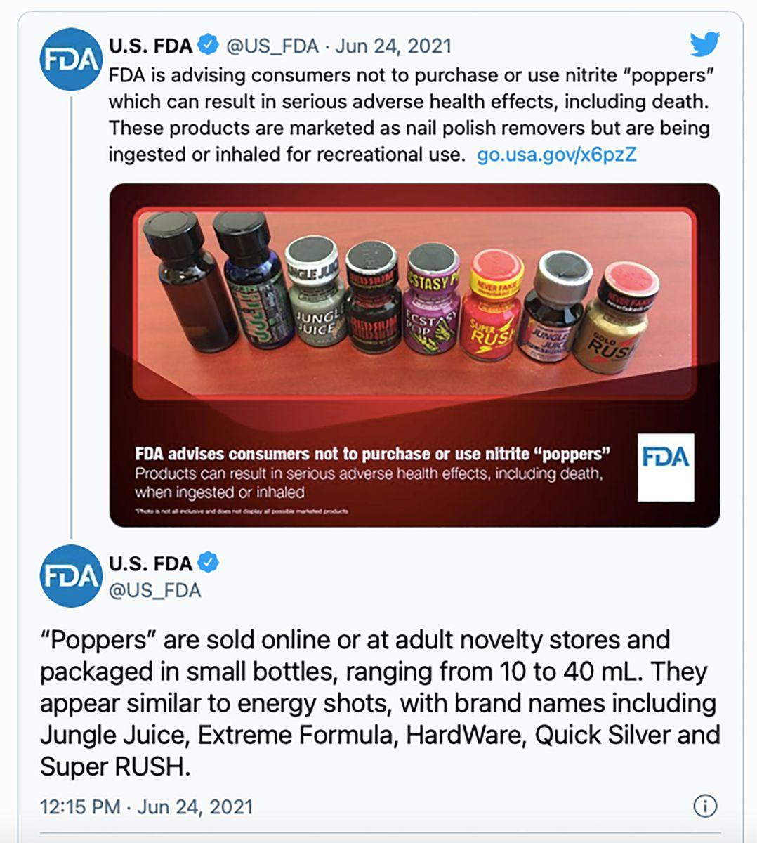 FDA poppers