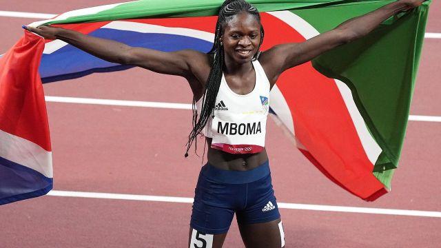 Christine Mboma atleta que ganó medalla en Juegos Olímpicos