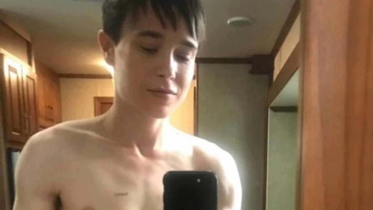 Elliot Page nueva foto sin camisa