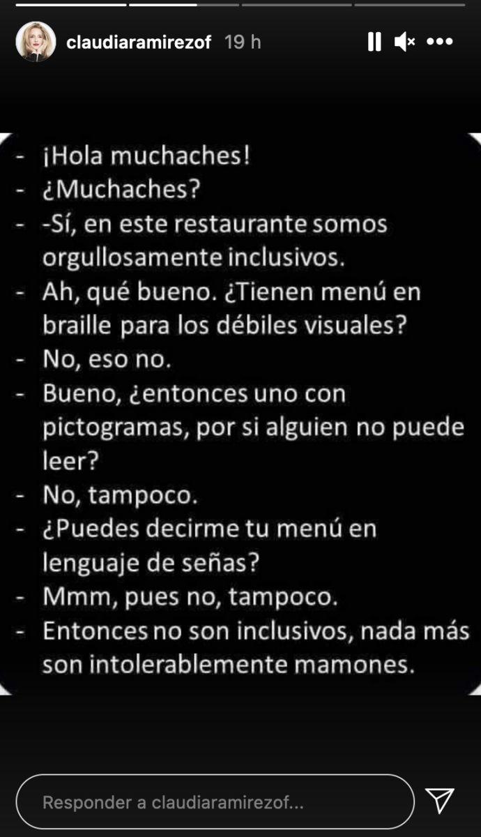 instagram claudia ramírez lenguaje inclusivo