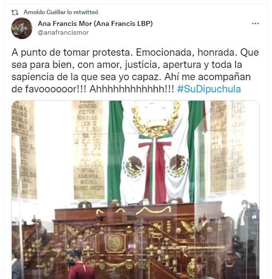 Ana Francis Mor diputada de las Reinas Chulas