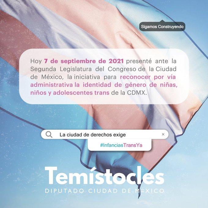 Temístocles Villanueva presenta iniciativa de infancias trans