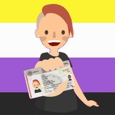 Persona no binaria pide al INE reconocer identidad de género en su credencial