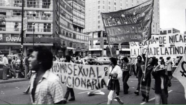 marcha del movimiento LGBT+ el 2 de octubre de 1978