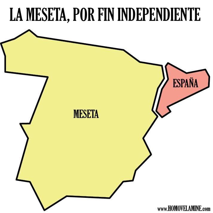 La Meseta se independiza de España