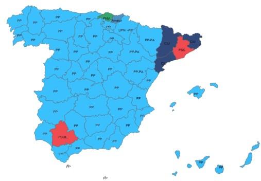 mapa españa pp elecciones