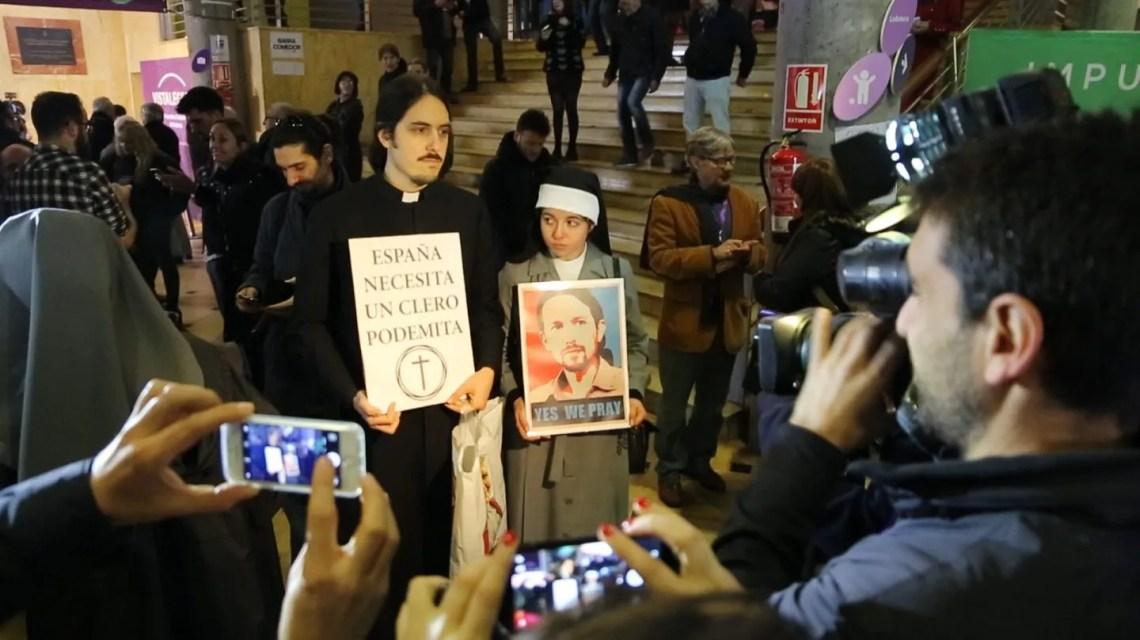3. Los 'cleroflautas' que apoyan a Pablo Iglesias en Vistalegre II