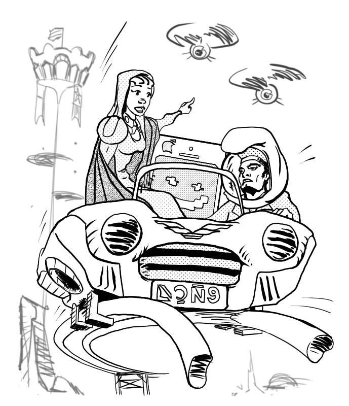 Ilustración de Isaac Royo para Homo Velamine