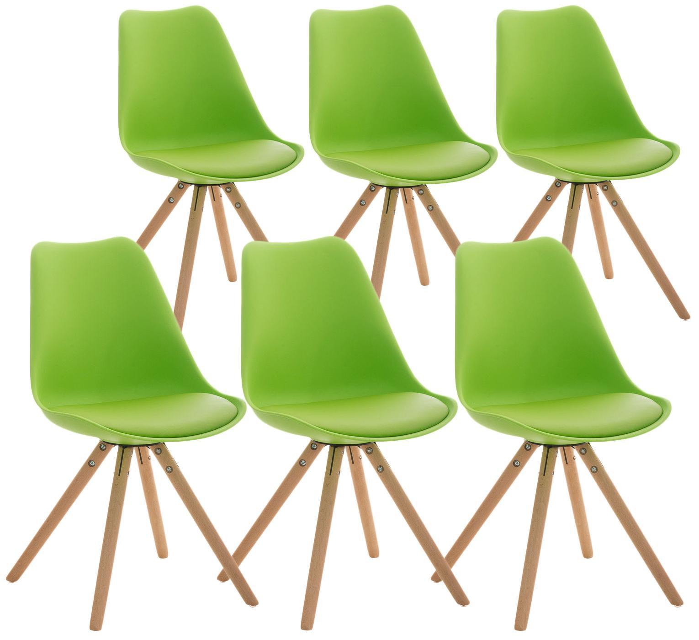 Lote 6 sillas TAYLOR gran diseo color verde  Lote 6