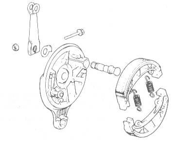 Die Bremstrommel der Honda DAX