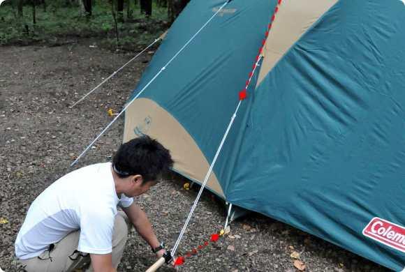 機能が活きるテントの張り方 - キャンプ道具のマメ知識   Hondaキャンプ   Honda
