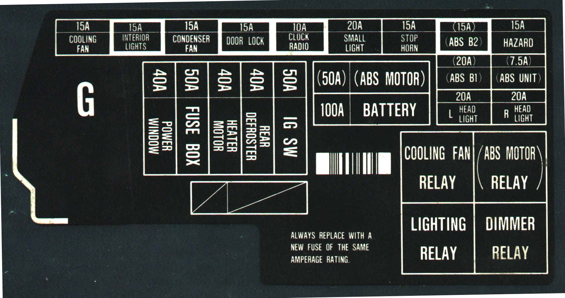 Prelude Fuse Diagram Auto Electrical Wiring 1989 Dodge D250 Box