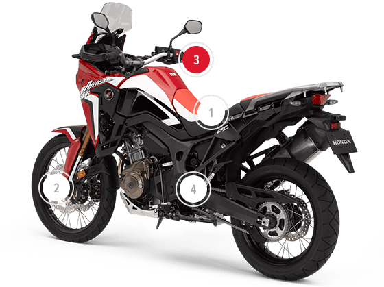 CRF1000L Africa Twin  Moto Adventure Fuoristrada  Honda IT