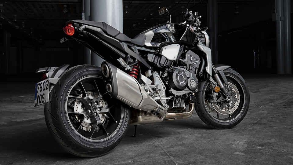 Bočný pohľad na motocykel Neo Sports Café CB1000R.