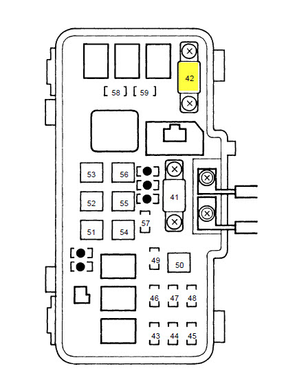 1999 Honda Accord Fuse Box : 26 Wiring Diagram Images