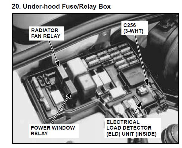 2003 Honda Accord Lx Fuse Box Diagram 97 Accord 2 2 Non Vtec Radiator Fan Powered Window And