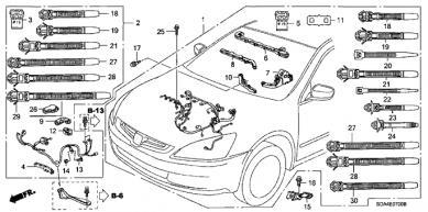 Honda Accord Knock Sensor Wiring Harness : 40 Wiring