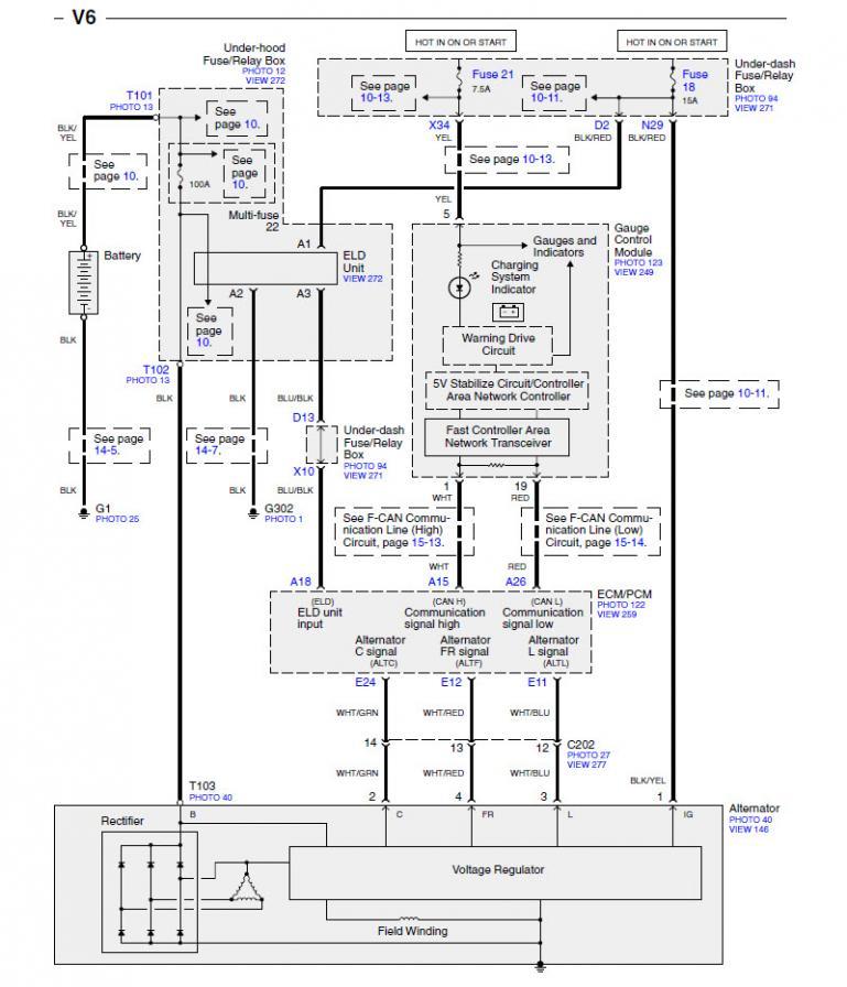 Pj Wiring Diagram 7 Wire Vehicle Overcharging Honda Accord Forum Honda Accord