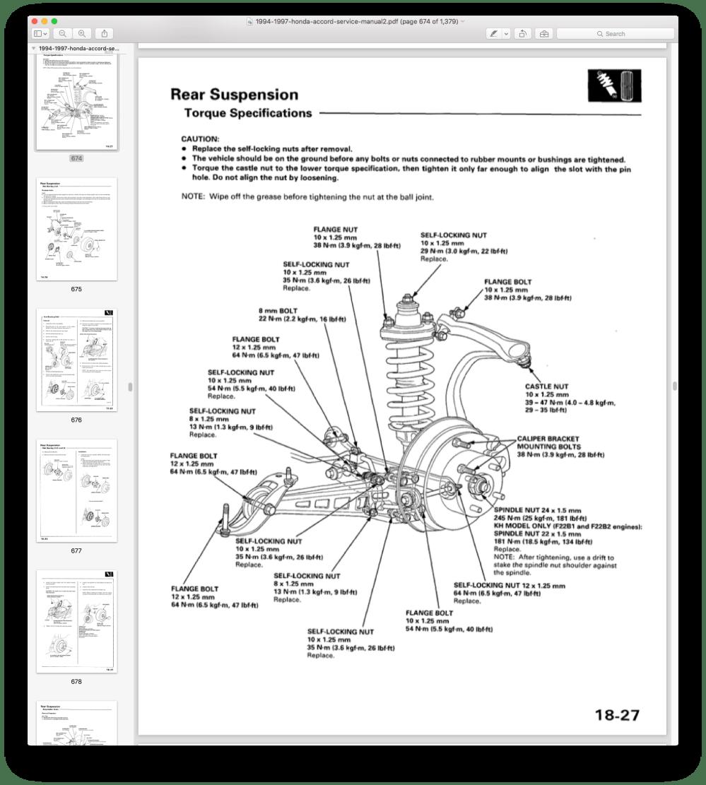 medium resolution of 96 ex sedan 4cyl rear axle nut 22m or 24mm honda accord forum 1996 honda accord axle diagram