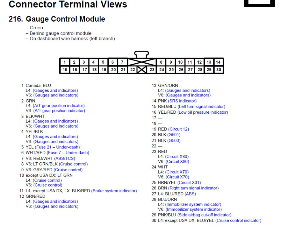 medium resolution of 2004 honda accord instrument cluster wiring gauge control module jpg