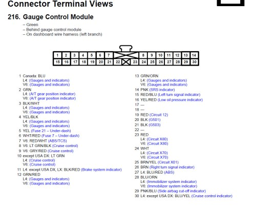 small resolution of 2004 honda accord instrument cluster wiring gauge control module jpg