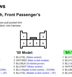 02 accord passenger window 6 pin connector wiring frt passenger switch  [ 1727 x 813 Pixel ]