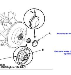2006 accord ex rear wheel bearings replacement spindle nut jpg  [ 1185 x 790 Pixel ]