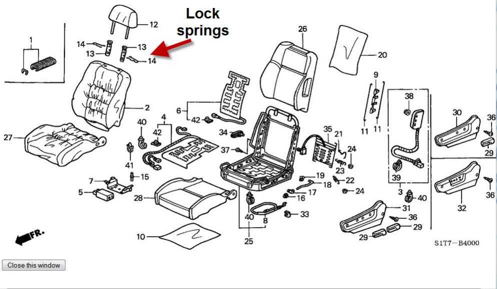 Service manual [How To Remove 1997 Honda Civic Headrest