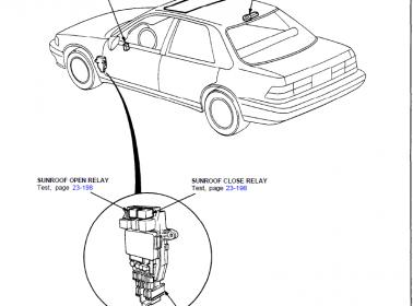 Please Help: Sunroof Relay Location on 90 Accord EX-R