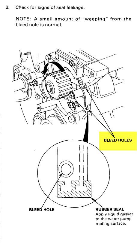1994 Accord EX Coolant leak on funky screw on back of