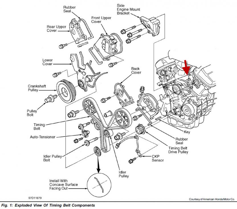 Honda Accord V6 2 7 Engine Diagram Honda Crv Engine