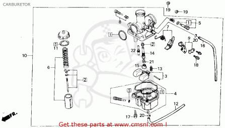 Wiring Database 2020: 29 Honda Fourtrax 300 Carburetor Diagram
