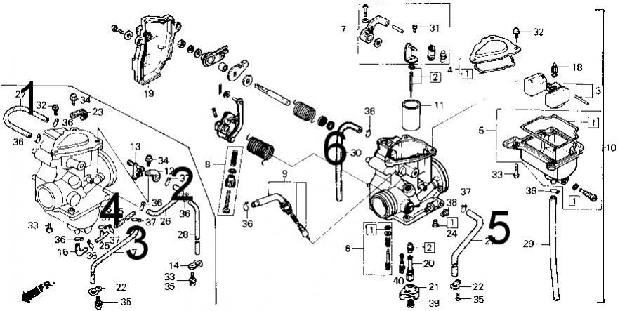diagram of honda atv parts 2006 trx250ex a carburetor diagram