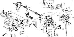 86 TRX 250 Fourtrax vacuum Diagram  Honda ATV Forum