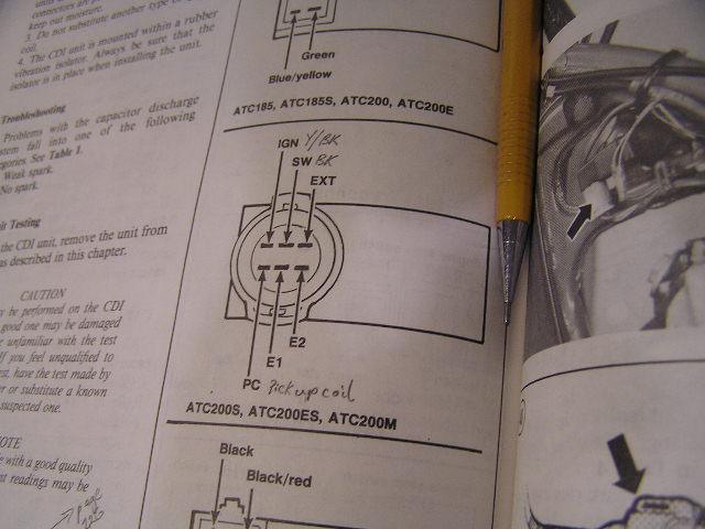 Honda Electrical Wiring Diagrams Also Honda Atc 200 Wiring Diagram